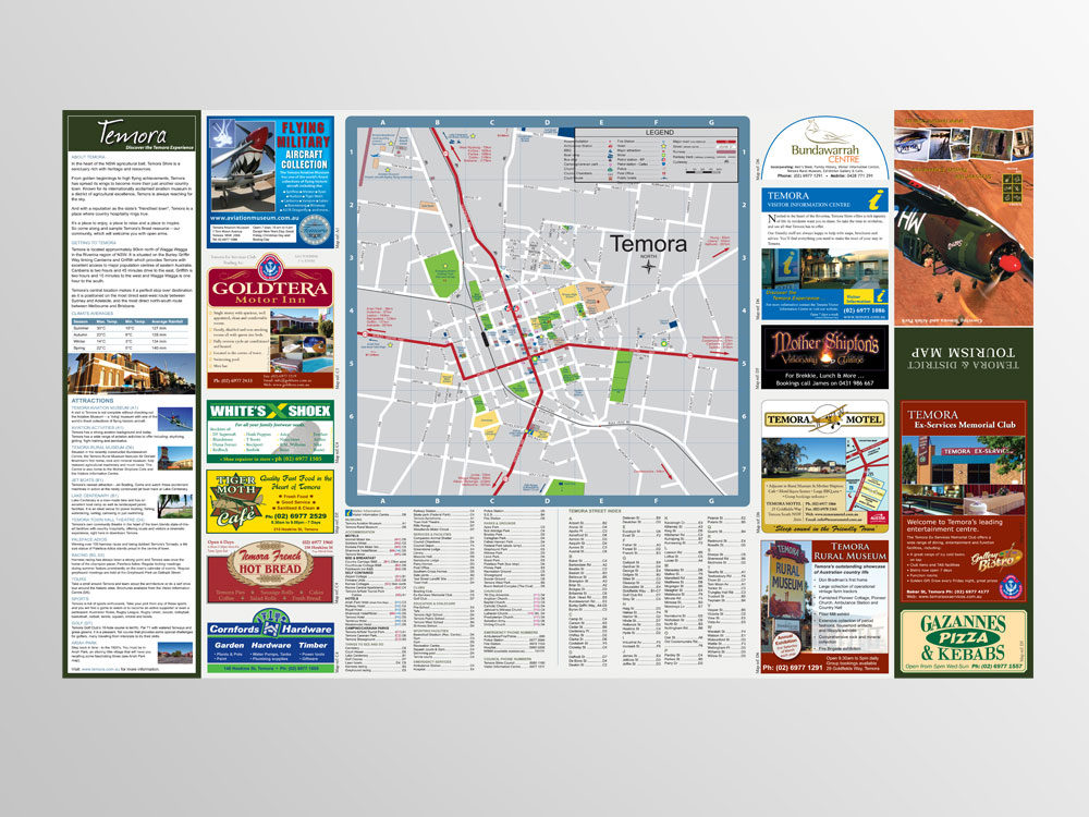 Temora Tourism Map
